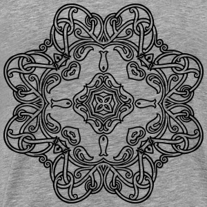 Interlocking Geometric Design 18 - Men's Premium T-Shirt