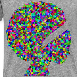 Prismatic Low Poly African American Woman - Men's Premium T-Shirt