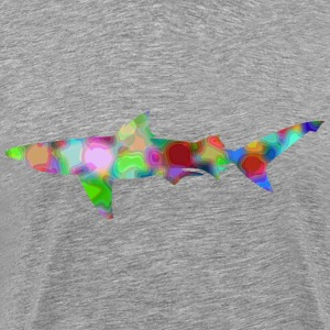Psychedelic shark (reduced file size) - Men's Premium T-Shirt