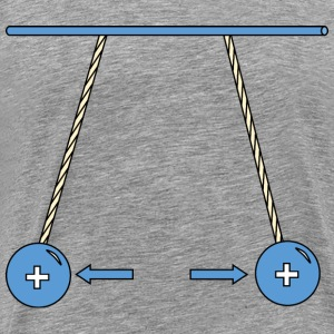 Physic diagram: positively charged pith balls repe - Men's Premium T-Shirt