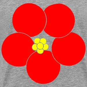 Whiteedged Poppy - Men's Premium T-Shirt