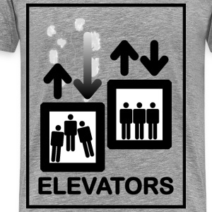 Elevator Sign - Men's Premium T-Shirt