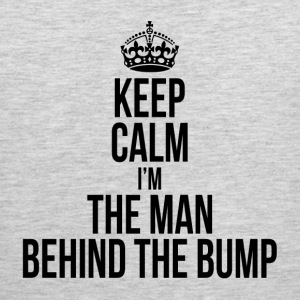 KEEP CALM I'M THE MAN BEHIND THE BUMP Sportswear - Men's Premium Tank