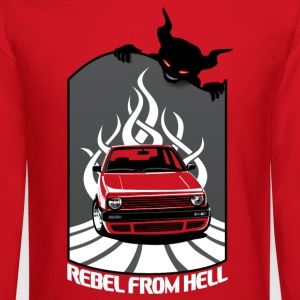 Mk2 Car - Rebel in Hell Long Sleeve Shirts - Crewneck Sweatshirt