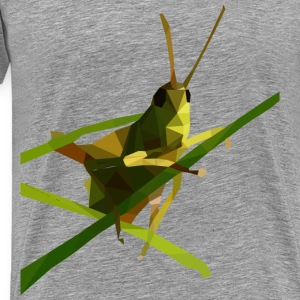 Low Poly Grasshopper - Men's Premium T-Shirt