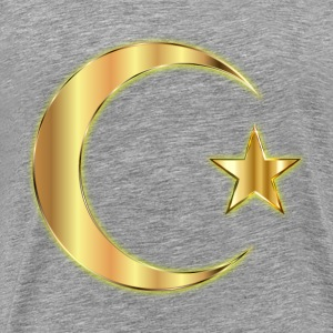 Golden Crescent Moon And Star Enhanced Without Bac - Men's Premium T-Shirt