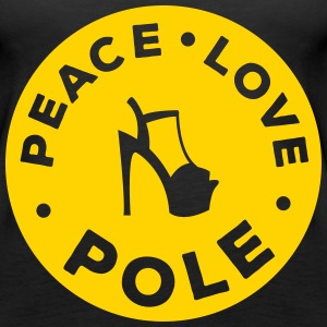 peace love pole dance Tanks - Women's Premium Tank Top