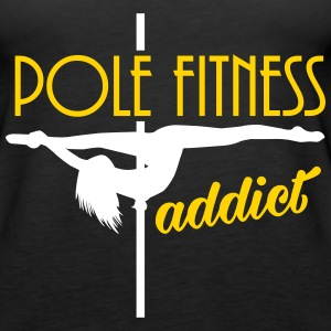 pole fitness addict Tanks - Women's Premium Tank Top