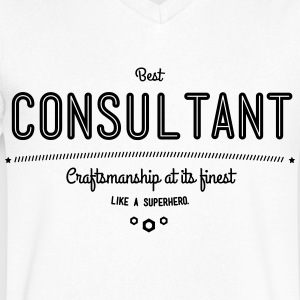 best consultant - craftsmanship at its finest T-Shirts - Men's V-Neck T-Shirt by Canvas