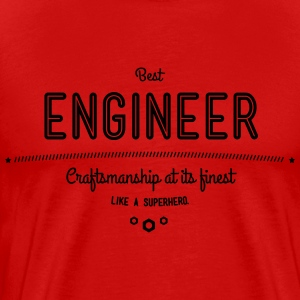 best engineer - craftsmanship at its finest T-Shirts - Men's Premium T-Shirt