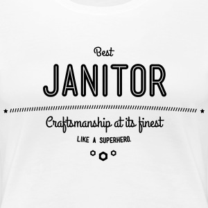 best janitor - craftsmanship at its finest T-Shirts - Women's Premium T-Shirt