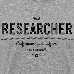 best researcher - craftsmanship at its finest T-Shirts - Men's Premium T-Shirt