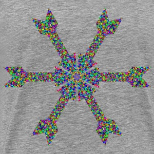 Prismatic Low Poly Arrow Art - Men's Premium T-Shirt