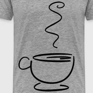 Cup Of Hot Beverage Line Art - Men's Premium T-Shirt