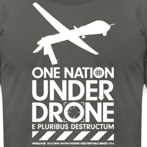 One Nation Under Drone - Support WikiLeaks T-Shirts - Men's T-Shirt by American Apparel