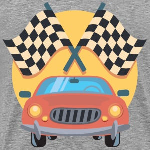 Car And Racing Flags Icon - Men's Premium T-Shirt