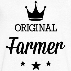 Original farmer T-Shirts - Men's V-Neck T-Shirt by Canvas