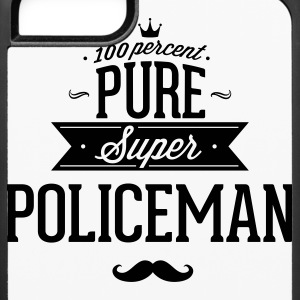 100 percent pure super policeman Phone & Tablet Cases - iPhone 6/6s Rubber Case