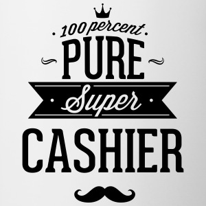 100 percent pure super cashier Mugs & Drinkware - Contrast Coffee Mug