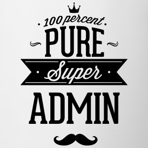 100 percent pure super admin Mugs & Drinkware - Contrast Coffee Mug