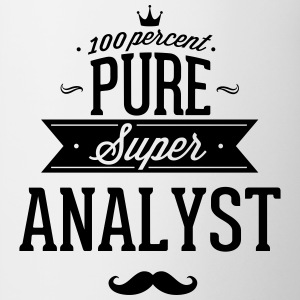 100 percent pure super analyst Mugs & Drinkware - Contrast Coffee Mug