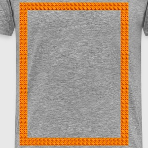 Orange Buttons - Men's Premium T-Shirt
