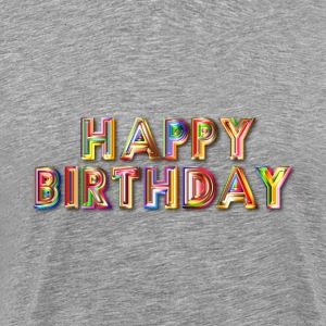 Happy Birthday Typography With Drop Shadow - Men's Premium T-Shirt