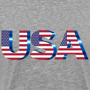 USA Flag Typography No Filters No Background - Men's Premium T-Shirt