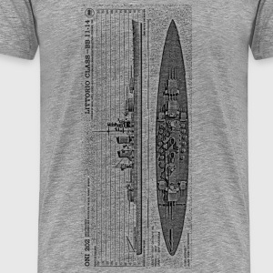 Littorio Battleship - Men's Premium T-Shirt