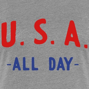 USA All Day T-Shirts - Women's Premium T-Shirt
