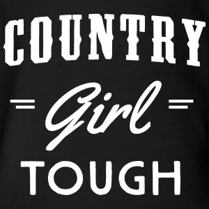 Country Girl Tough Baby Bodysuits - Short Sleeve Baby Bodysuit