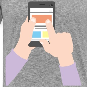 Using A Smartphone - Men's Premium T-Shirt