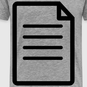 File or Document Icon - Men's Premium T-Shirt