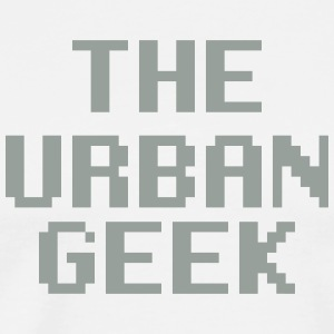 The Urban Geek Gray and White - Men's Premium T-Shirt