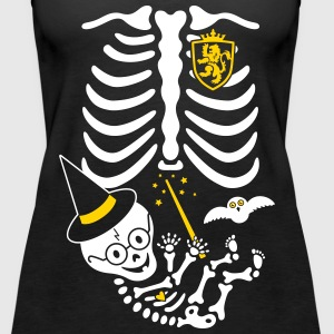 Skeleton Maternity Witch Tanks - Women's Premium Tank Top