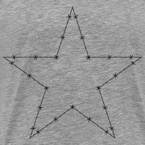 Barbed Wire Star - Men's Premium T-Shirt