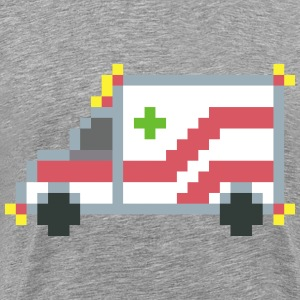 Pixel art ambulance - Men's Premium T-Shirt