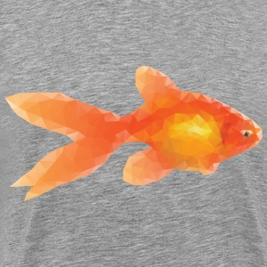 Low Poly Goldfish - Men's Premium T-Shirt