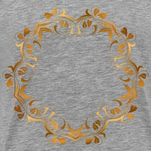 Floral Flourish Frame 15 - Men's Premium T-Shirt
