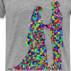 Prismatic Low Poly Marriage - Men's Premium T-Shirt