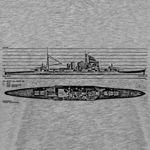Atago Battleship - Men's Premium T-Shirt