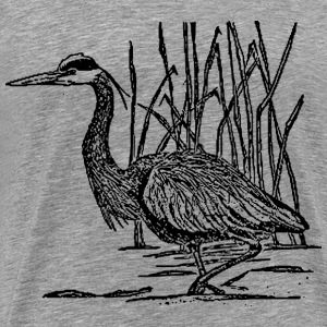 great blue heron - Men's Premium T-Shirt