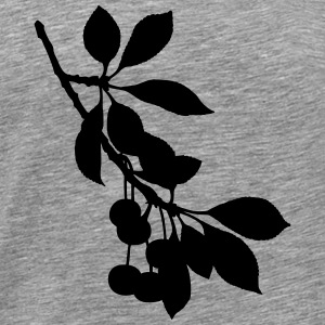 Sour cherry tree 2 (silhouette) - Men's Premium T-Shirt
