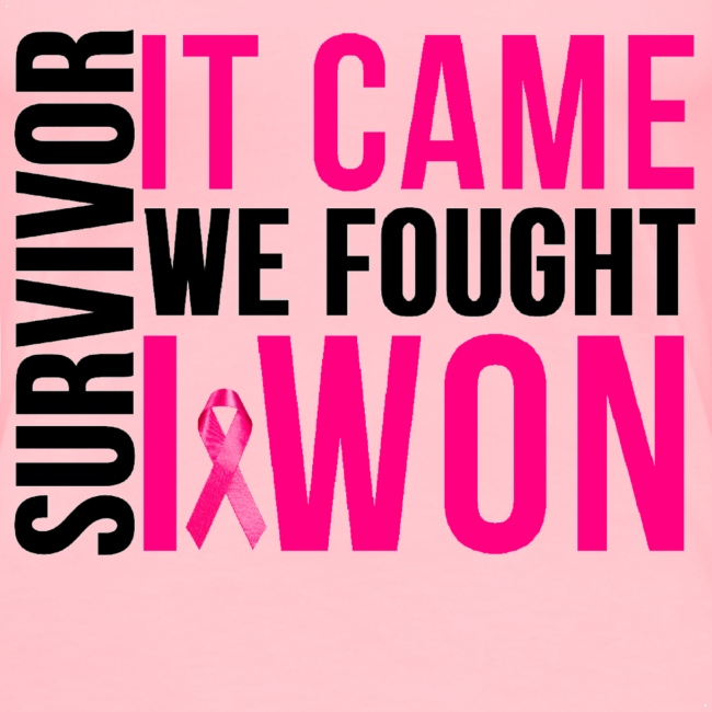 SURVIVOR: It Came We Fought I WON Tshirt - Breast Cancer Month
