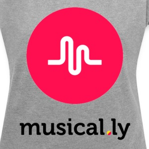 musically - Women´s Rolled Sleeve Boxy T-Shirt