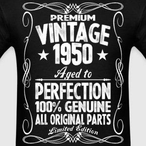 Premium Vintage 1950 Aged To Perfection 100% Genui T-Shirts - Men's T-Shirt