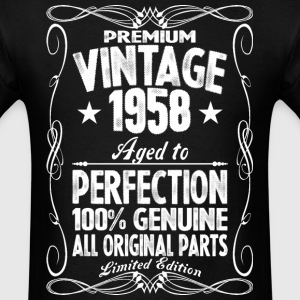 Premium Vintage 1958 Aged To Perfection 100% Genui T-Shirts - Men's T-Shirt