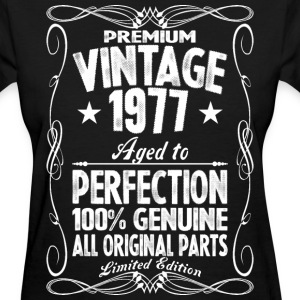 Premium Vintage 1977 Aged To Perfection 100% Genui T-Shirts - Women's T-Shirt