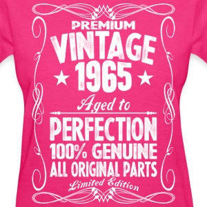 Premium Vintage 1965 Aged To Perfection 100% Genui T-Shirts - Women's T-Shirt