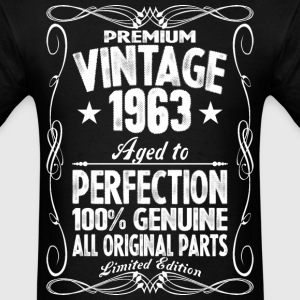 Premium Vintage 1963 Aged To Perfection 100% Genui T-Shirts - Men's T-Shirt